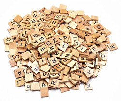 400 Scrabble Tiles Letter Set Vintage Wood Letters Lot Wooden Tile Board Game