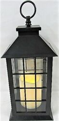 Smart Home Hanging Candle Decorative Lantern in Black