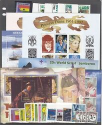 Ghana Mint NH modern sets and S S Catalog Value $77.00 2R0289 $32.00
