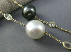 ESTATE LONG 14KT YELLOW GOLD 3D QUARTZ amp; MULTI COLOR PEARL BY THE YARD NECKLACE $2489.37