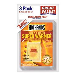 HotHands Body and Hand Super Warmer - Bag of 3 Pieces $6.55