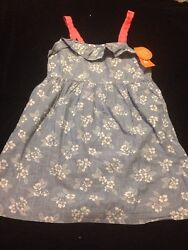 NWT GYMBOREE Girls 10 Chambray Blue Floral Tropical Breeze spring summer Dress