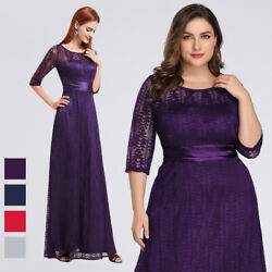 US Ever-Pretty Womans Plus Size Half Sleeve Long Mother of the Bride Dress 08878 $39.99