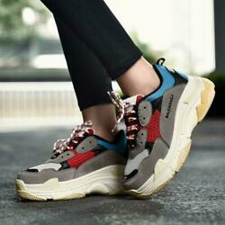 Unisex Men Women Fashion Athletic Trainers Running Triples Sports Shoes Sneakers