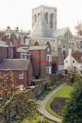 PHOTO YORKSHIRE 1989 YORK MINSTER ACROSS DEANERY GARDEN FROM WALL ABOVE LORD MA GBP 1.85