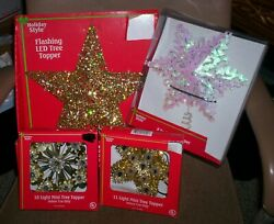 HOLIDAY STYLE STAR CHRISTMAS TREE TOPPER CHOOSE FROM 4 STYLES FREE SHIP NEW $8.00