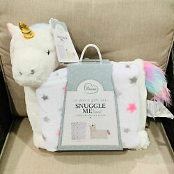 Little Miracles Snuggle Me Baby Comfy Blanket and Unicorn Plush 2 Piece Gift Set