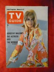 Georgia March 11-17 1967 TV Guide DOROTHY MALONE Noel Harrison JANE FONDA