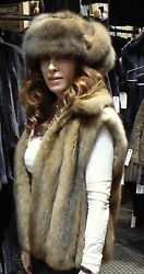 VERA WANG GOLDEN RUSSIAN SABLE FUR VEST COAT JACKET NEW 2-6 $28K+ SO LUXE