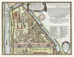1642 Gerritsz and Blaeu City Map or Plan of the Kremlin in Moscow Russia