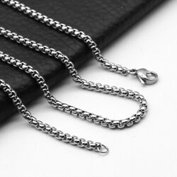 Men Stainless Steel Keel Chain Necklace Silver Color Jewelry 2mm3mm4mm5mm