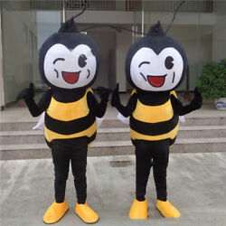 Hot Sale Honeybee Cosplay Suit Outfit Parade Bee Mascot Costume Dress Animal us