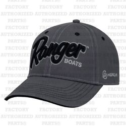 RANGER BASS BOATS MERCURY CHARCOAL CAP R18A-H558 BASS FISHING HATS