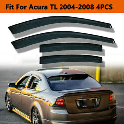 Fit For Acura TL 2004 2008 Window Deflector Vent Visor Weather Shield Rain Guard