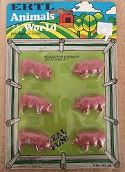 Vintage ERTL Animals Of The World Set of 6 Pigs Toy Figurines NEW $6.00