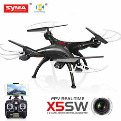 Quadcopter Drone with HD Camera Syma Wifi FPV Explorers 2.4Ghz 4CH RC $107.25