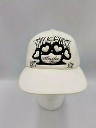 Hustler Trucker Bling Brass Knuckle Talk S**t Get Hit Foam Mesh Snap back Cap $17.95