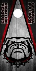 SINGLE Georgia Bulldogs Cornhole Wrap Skin Decal Vinyl Board Game Vintage DT14