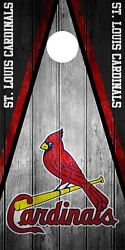 SINGLE St. Louis Cardinals Cornhole Wrap Skin Decal MLB Game Vintage Vinyl DT126