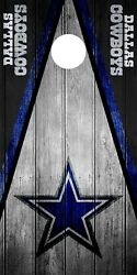 SINGLE Dallas Cowboys Cornhole Wrap Skin Decal Vinyl NFL Game Board Logo DT49