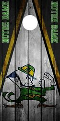 SINGLE Notre Dame Fighting Irish Cornhole Wrap Skin Decal Vinyl NCAA Logo DT36