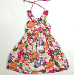Gymboree Girls 6 Tropical Flower Halter Dress Surf Adventure