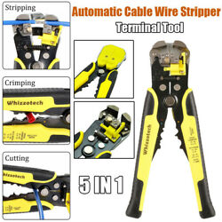 Automatic Cable Wire Stripper Cutter Crimper Plier Multifunctional Electric Tool $11.99