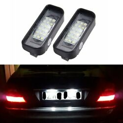 2x Error Free Led License Plate Lights For Mercedes-Benz S-Class W220 1999-2005