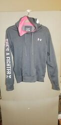 Under Armour Women's Hoodie Sz M Breast Cancer Awareness Shes a Fighter