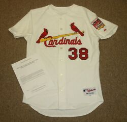 2005 Marty Mason SL Cardinals Game Used Home Jersey w Busch Stadium Patch LOA $475.00