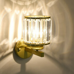 Modern Luxury Crystal Wall Lamp Led Wall Sconce Light Fixtures Bedroom Bathroom $73.67