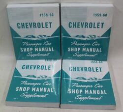 4x NEW CHEVROLET S&M15 Passenger Car Shop Paperback Manual Supplement 1959-1960