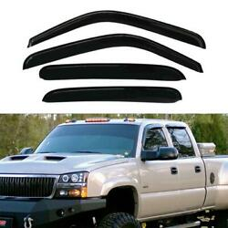 Window Visor SunRain Guard Vent Shade For ChevyGMCCadillac Crew Cab 94355 4pc