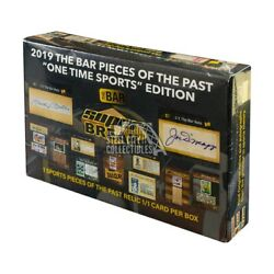 2019 Super Break The Bar Pieces of the Past One Time Sports Edition Box