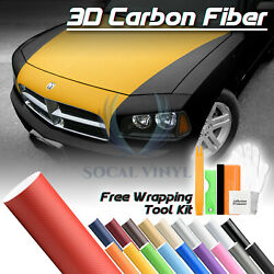 *Premium 3D Matte Carbon Fiber Textured Vinyl Wrap Sticker Decal Air Bubble Free