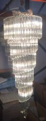 Chandelier Murano Glass TRIEDO Transparent like style venini barovier stilnovo
