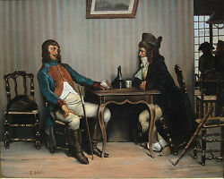 19th Century French Genre Oil Painting
