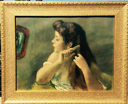 ROBERT PHILIPP  NA (1895-1981) American Impressionist young girl combing hair