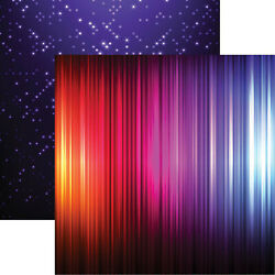 Reminisce NEON GLOW 12x12 Dbl Sided 2pc Scrapbooking Paper LIGHTS $1.00