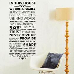Family Rules Home Decor Wall Sticker Living Room Bedroom Decoration Wall Decal $17.99