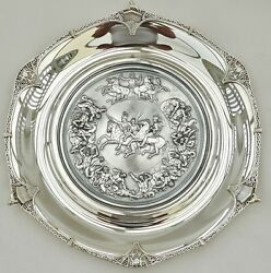 PISTRUCCI RARE CASED HM STERLING SILVER WATERLOO MEDAL SALVERS Obverse