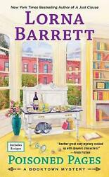 Poisoned Pages by Lorna Barrett Paperback Book Free Shipping!