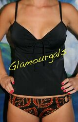 New Victorias Secret Forever Sexy Miracle Bra Exotic Black Push Up Tankini 36A  $34.99