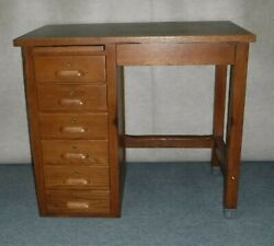 Oak School Desk ~Guthrie Center Iowa High School 1940's~ Professionally Restored