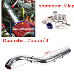 For 76mm3'' High Flow Car Air Intake Induction Kit Aluminum Alloy Intake Tube