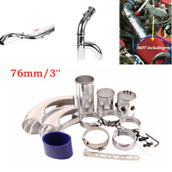 DIY Aluminum Alloy Intake Tube Car SUV Air Filter Fitting Intake Induction Kit