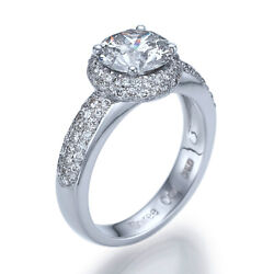 Certified 2 Carat Colorless Diamond Engagement Ring 100% Natural