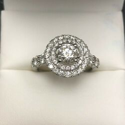 Women Real Diamond Ring - Engagement Ring  0.77 Ct Big Stone.