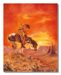 End Of The Trail Native Indian Wall Picture Art Print $11.97