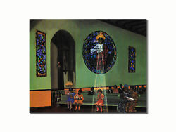 Black Church Praying in Light of Jesus Wall Picture 8x10 Art Print $8.87